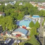 Drohnenfoto vom Zirkus in Bielefeld - RonCalli