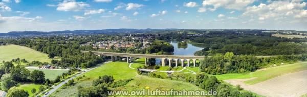 Panorama vom Obersee / Viadukt in Bielefeld / Schildesche